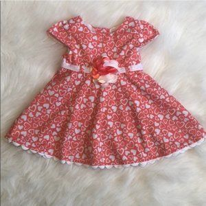 Baby 12 Month Floral Coral Dress!